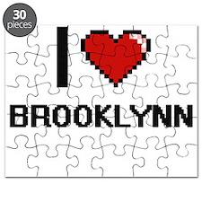 I Love Brooklynn Digital Retro Design Puzzle