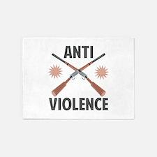 Anti Violence 5'x7'Area Rug