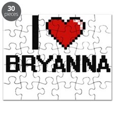 I Love Bryanna Digital Retro Design Puzzle