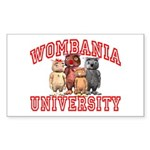 Wombania University Rectangle Sticker