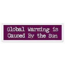 Global Warming Bumper Car Sticker