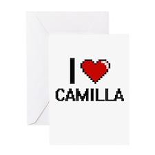 I Love Camilla Digital Retro Design Greeting Cards