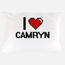 I Love Camryn Digital Retro Design Pillow Case