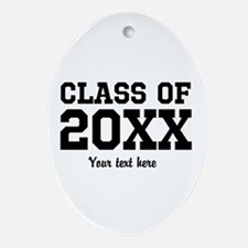 Custom graduation party favor Ornament (Oval)