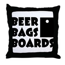 Beer Bags Boards Throw Pillow