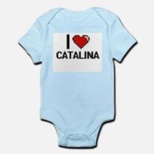 I Love Catalina Digital Retro Design Body Suit