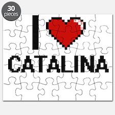 I Love Catalina Digital Retro Design Puzzle