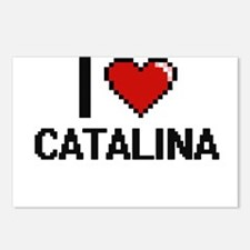 I Love Catalina Digital R Postcards (Package of 8)