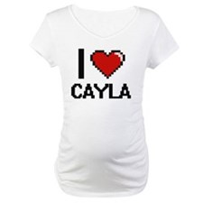 I Love Cayla Digital Retro Desig Shirt