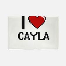 I Love Cayla Digital Retro Design Magnets