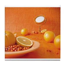 Orange Study Tile Coaster