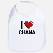 I Love Chana Digital Retro Design Bib