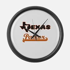 Texas Pastor Large Wall Clock