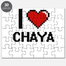 I Love Chaya Digital Retro Design Puzzle