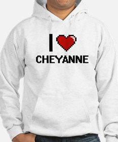 I Love Cheyanne Digital Retro De Hoodie Sweatshirt