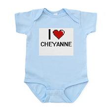 I Love Cheyanne Digital Retro Design Body Suit