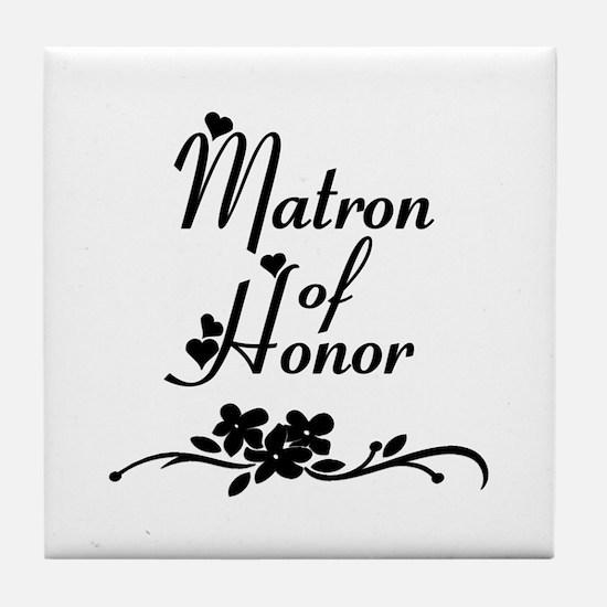 Matron of Honor Tile Coaster