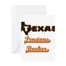 Texas Pensions Broker Greeting Cards