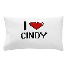 I Love Cindy Digital Retro Design Pillow Case
