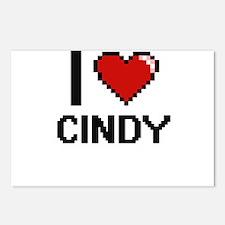 I Love Cindy Digital Retr Postcards (Package of 8)