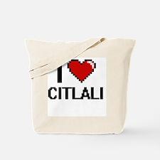 I Love Citlali Digital Retro Design Tote Bag
