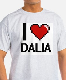 I Love Dalia Digital Retro Design T-Shirt