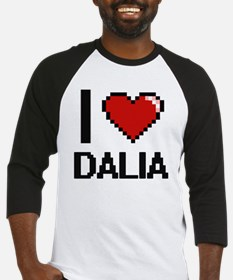 I Love Dalia Digital Retro Design Baseball Jersey