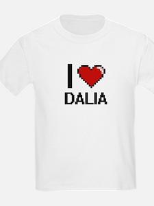 I Love Dalia Digital Retro Design T-Shirt