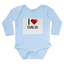 I Love Dalia Digital Retro Design Body Suit