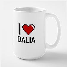 I Love Dalia Digital Retro Design Mugs