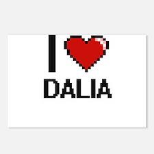 I Love Dalia Digital Retr Postcards (Package of 8)