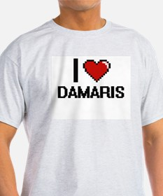 I Love Damaris Digital Retro Design T-Shirt