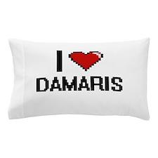I Love Damaris Digital Retro Design Pillow Case