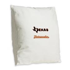 Texas Photographer Burlap Throw Pillow