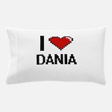 I Love Dania Digital Retro Design Pillow Case