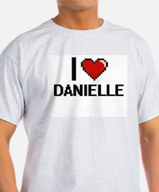 I Love Danielle Digital Retro Design T-Shirt