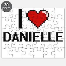 I Love Danielle Digital Retro Design Puzzle