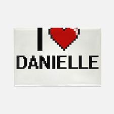 I Love Danielle Digital Retro Design Magnets