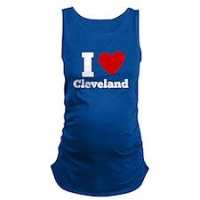I Heart Cleveland Maternity Tank Top