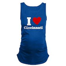 I Heart Cincinnati Maternity Tank Top