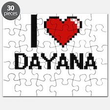 I Love Dayana Digital Retro Design Puzzle