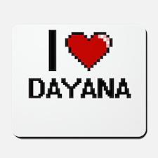 I Love Dayana Digital Retro Design Mousepad