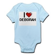 I Love Deborah Digital Retro Design Body Suit