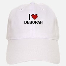I Love Deborah Digital Retro Design Baseball Baseball Cap