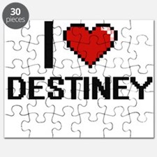 I Love Destiney Digital Retro Design Puzzle