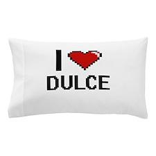 I Love Dulce Digital Retro Design Pillow Case