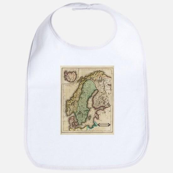 Vintage Map of Norway and Sweden (1831) Bib