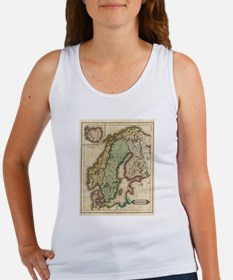 Vintage Map of Norway and Sweden (1831) Tank Top