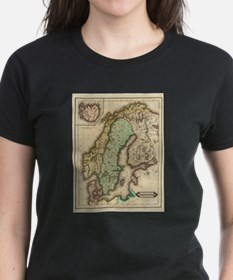 Vintage Map of Norway and Sweden (1831) T-Shirt
