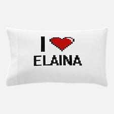 I Love Elaina Digital Retro Design Pillow Case